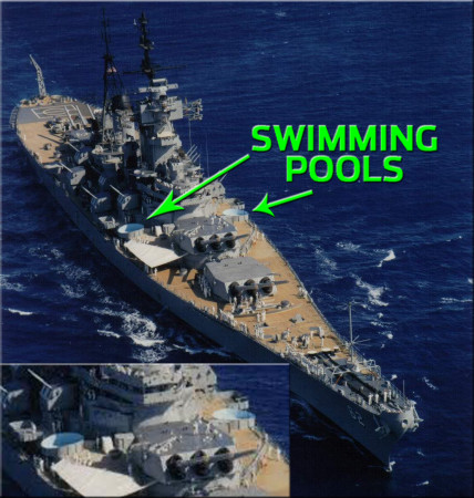 USS New Jersey Swimming Pools