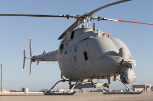 Northrop Grumman MQ-8C Fire Scout test preparations at Naval Bas